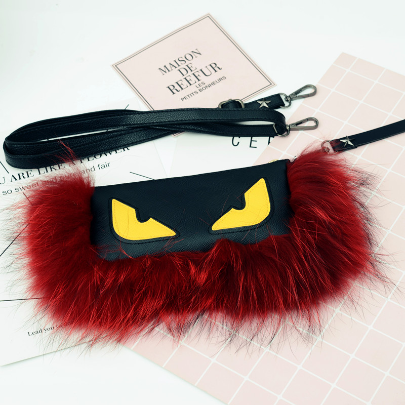Felyskep Fashion Fluffy Women Real Fur Pom Pom Keychain Monster Key Chain Key Ring Bag Car Charm For Women Plush Keychain A832WA цены онлайн