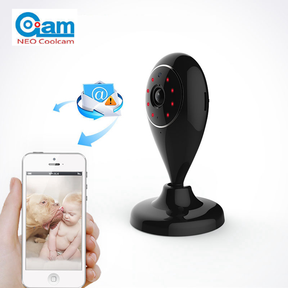 NEO COOLCAM NIP-55 Mini WiFi IP Camera HD 720P Wireless P2P Baby Monitor Network CCTV Security Camera with IR-cut Smart Home bw wifi ip camera hd 720p smart p2p baby monitor infrared ir wireless surveillance security network cctv onvif with door sensor
