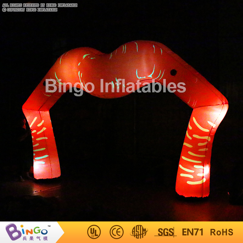 Valentine's Day decoration Inflatable lip arch with led lighting/5m wide led inflatable lighted lips flashing toy r001 crazy price pvc 5 5m long inflatable air tight arch