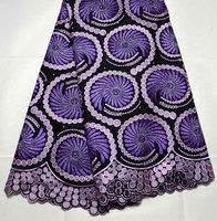 Nigeria Wedding Dress lace Latest  High Quality African Swiss cotton lace Fabric with stones