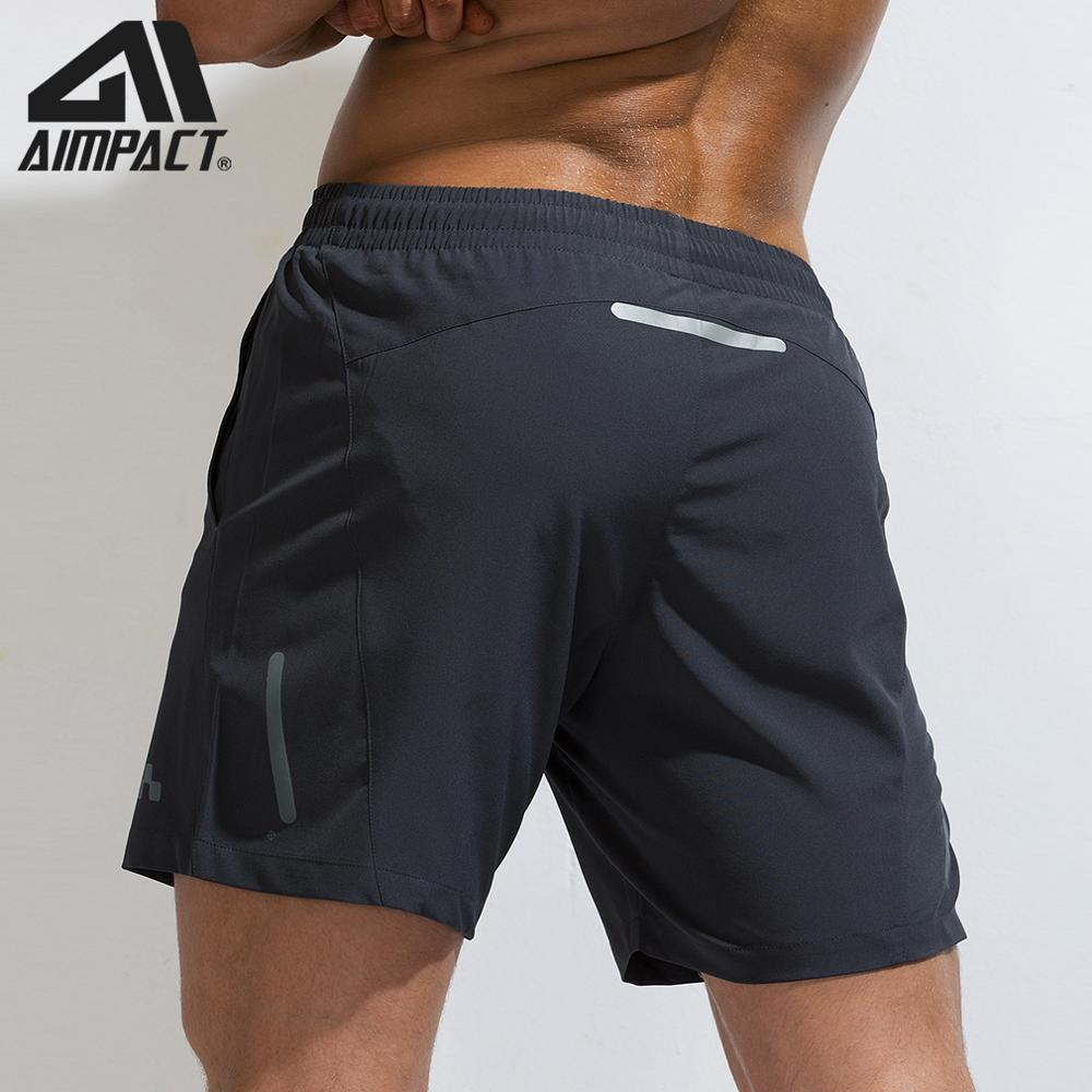 AIMPACT Sport Fitness Shorts Men Reflective Running Bike Shorts Gym Workout Training Fast Dry Swim Hybird Short Trunks AM2189
