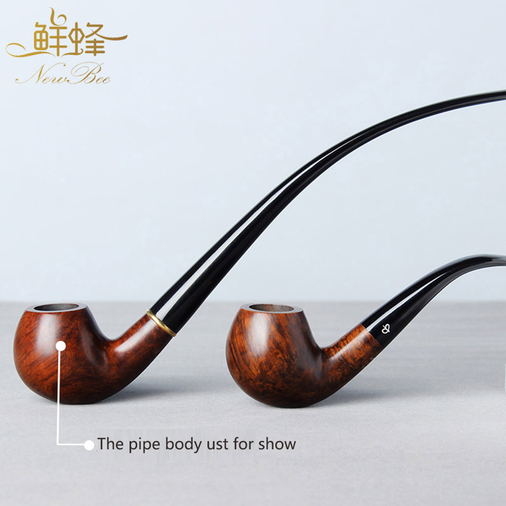 NewBee Smoking Pipe Set Wooden Tobacco Pipe For Smoke Portable Long Mouthpiece Smoking Pipes+ Short Mouthpiece aa0038-in Tobacco Pipes & Accessories from Home & Garden    1