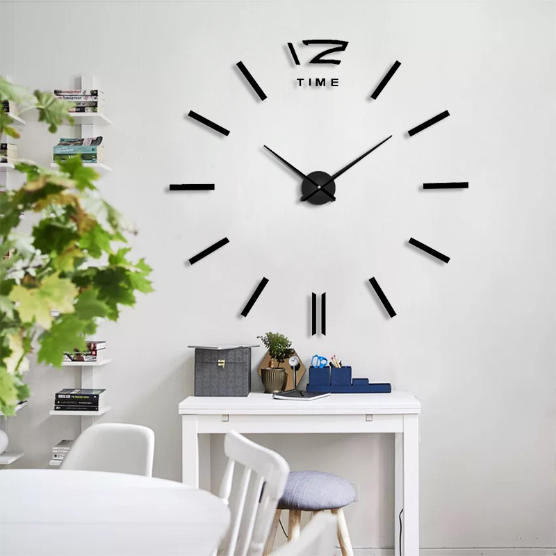 Best Selling Home Decoration Big Mirror Wall Clock Modern Design 3D DIY Large Decorative Wall Clocks Watch Wall Unique Gift