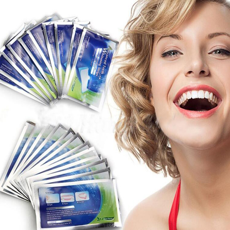 ZZSHINY 28pcs /BOX Teeth Whitening Strips Professional Tooth Bleaching Whiter Gel Strips For Dropshipping