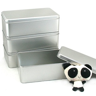 Size:184x110x58mm/Rectangle plain storage iron box multifunctional home storage metal cans tools stationery accessories box