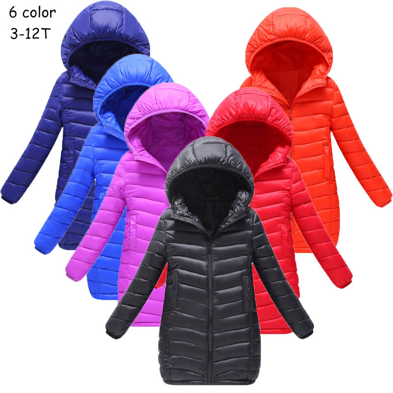 Spring /Autumn/ Winter Girls Hooded Jacket Boys Long Casual Coats Cotton-padded Children Outerwear Fashion Cotton Jacket 6 Color