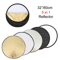 High Quality 32 80cm 5 In 1 New Portable Collapsible Light Round Photography Photo Reflector For