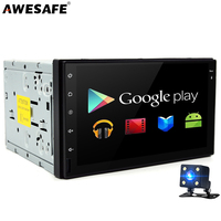 AWESAFE 2 Din 7 Android 6 0 Car DVD Player Radio GPS QuadCore Universale For Vw
