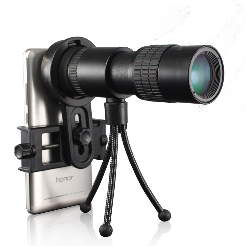 10-30x30 Zoom Monocular Telescope for Mobile phone High Power Mini Outdoor Hunting Spotting Scope Portable with Phone Clip celestron nature 10 25 monocular telescope with bak 4 prisms single telescope high speed single hand outdoor portable