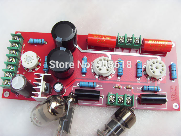 Buffer 6N3+6Z4 Tube SRPP Preamplifier Amplifier board Pre-amp Audio Version 2.0 free shipping 1pcs high quality 6n3 6z4 tube valve pre amp class a audio stereo preamplifier include transformer g2 007