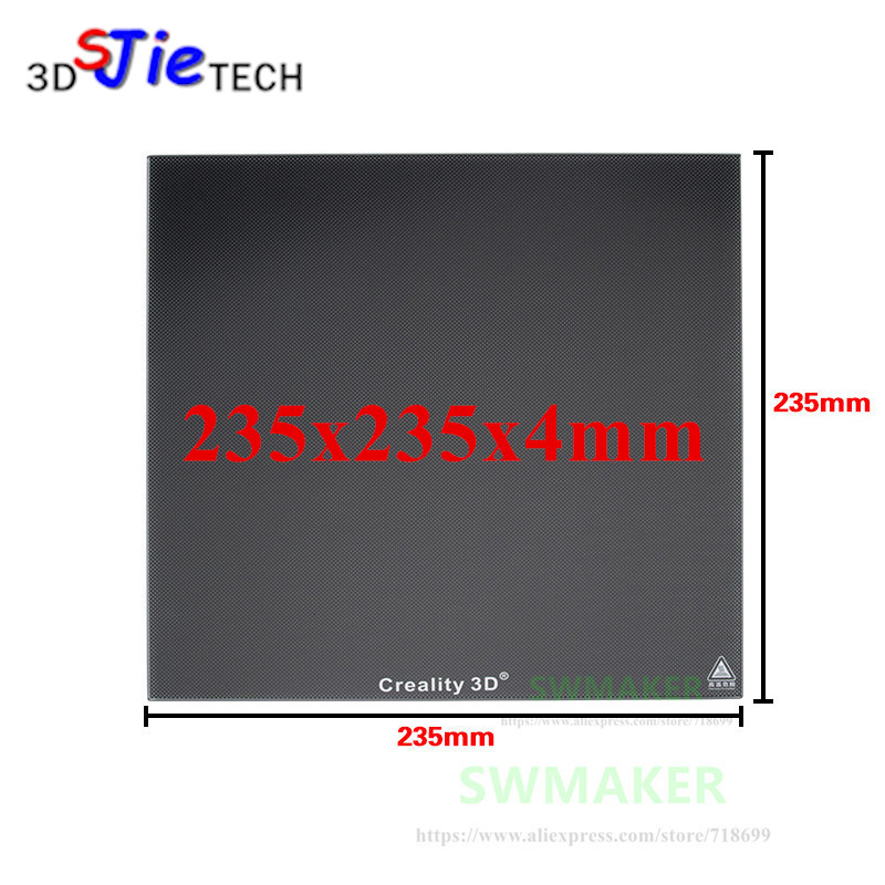 235 x 235 x 4 mm Creality Ender 3 Glass Bed Upgraded