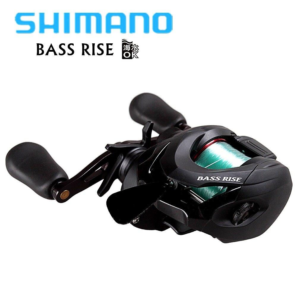 Original SHIMANO BASS RISE Baitcasting Fishing Reel 2BB/7.2:1/5KG with 3.5# Nylon Line HEG S3D Spool Bait Casting Round Coil curado 200hgk