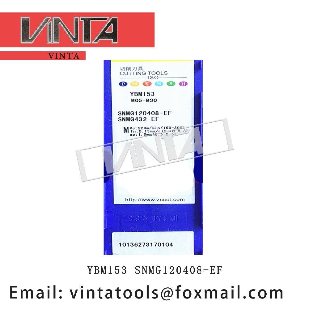 unidades lotes YBG205 YBG202 YBM153 SNMG120408-EF cnc