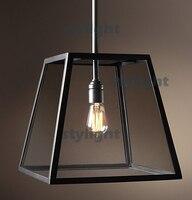 Винтаж подвесные лампы накаливания кулон Эдисон лампы Стекло коробка Loft огни