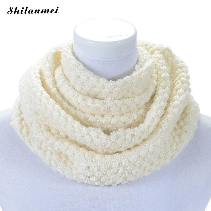 Mujeres bufandas de invierno de lana gruesa bufanda Lap cuello ...