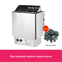 Household 304 Stainless Steel Sauna Stove Internal Control Heating Furnace Sauna Equipment Sauna Steam Generator 220V 380V 3KW