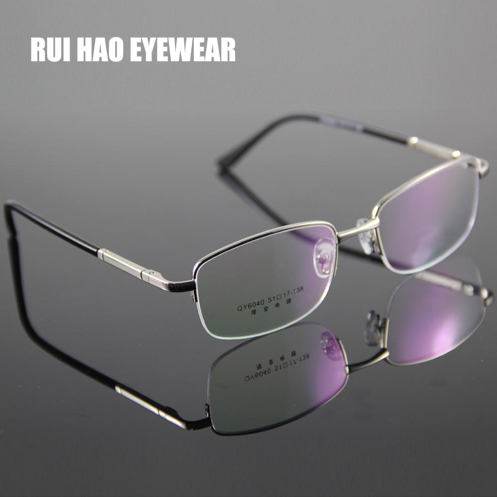 Homens Óculos de Armação Homens Metade Sem Aro Vidros Ópticos Óculos de  Leitura Miopia Armações de Óculos de Prescrição Progressiva Vitra oculos em  Armações ... 25448ced0a