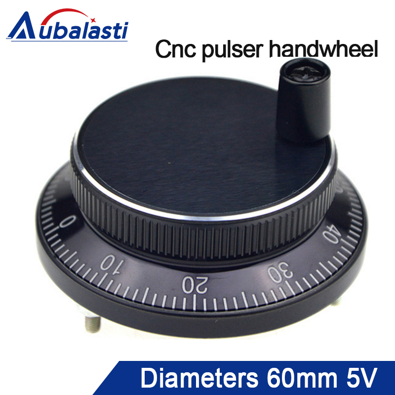 Free Shipping Handwheel Diameter 60mm Voltgae DC5v Pulse 100 6pins Or 4pins Hand Wheel CNC Machine Pulse Encoder Generator