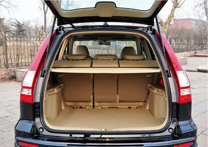 Car Rear Trunk Security Shield Shade Cargo Cover For HONDA CR-V CRV 2007 2008 2009 2010 2011 (Black beige) car rear trunk security shield shade cargo cover for honda cr v crv 2012 2013 2014 2015 2016 2017 black beige
