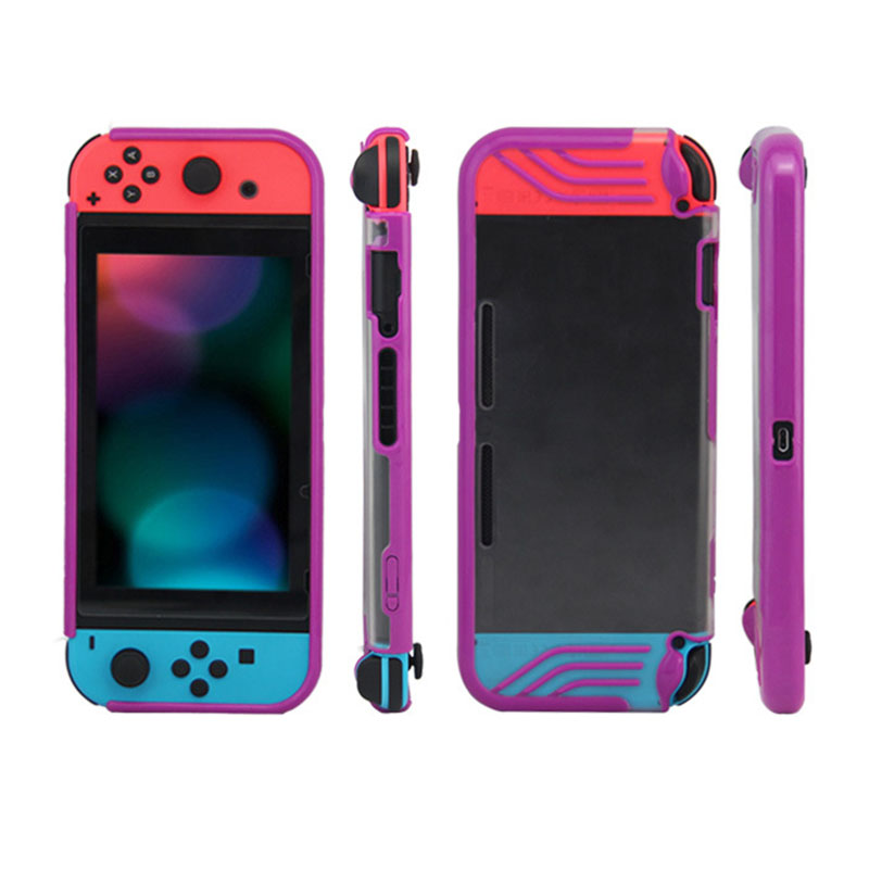 For Nintend Switch Game Console Protective Case Cover TPU Bumper Scratch Resistance Back Cover Case Drop Proof Protector