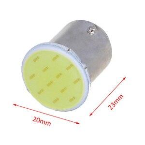 Image 2 - 10pcs P21W 1157 Bay15d 1156 BA15S P21W segnale di sterzo LED bulb COB car interior luce di arresto reverse freno posteriore luce super gloss