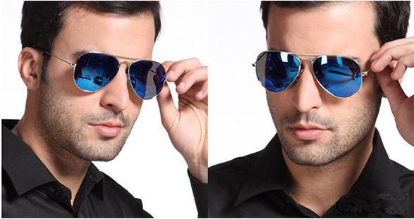 17e010326f HOT Selling Full Blue Mirrored Aviator Sunglasses Dark Tint Lens Silver  Frame sun glasses Free shipping-in Movie   TV costumes from Novelty    Special Use on ...