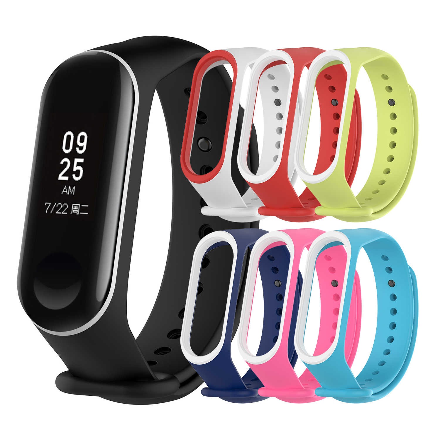 Silicone Wrist Strap Mi Band 4 Correa Band Smart Watch Accessories for Xiaomi mi Band 3 4 Bracelet Wristband Miband 3 4Strap