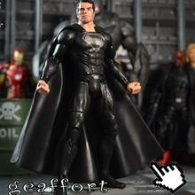 children adult gift home decor Decoration Plastic Crafts  super man superman in black  model miniature action figure dolls