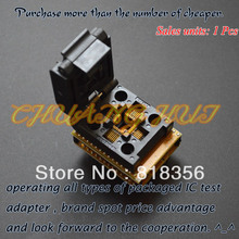 TQFP32 to DIP32 Programmer Adapter  QFP32 Test socket for atmega8 Series chip free shipping tqfp32 qfp32 lqfp32 to dip28 adapter socket support atmega8 atmega8a atmega328 avr mcu tl866a tl866cs