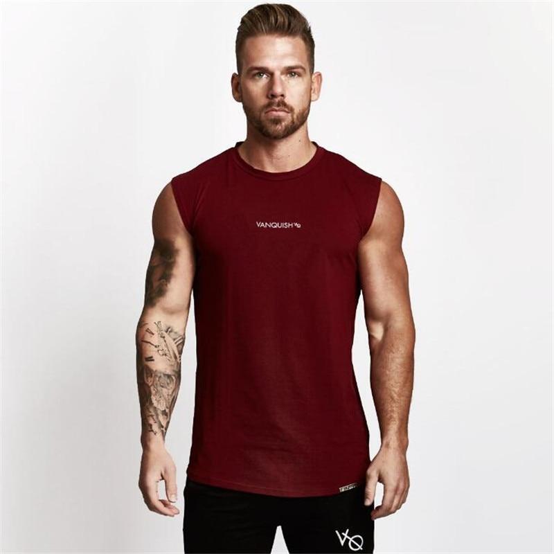New Arrival Gyms Clothing   Tank     Top   Men Fitness Singlet Sleeveless Shirt Cotton Muscle Guys Bodybuilding Undershirt Sportwear