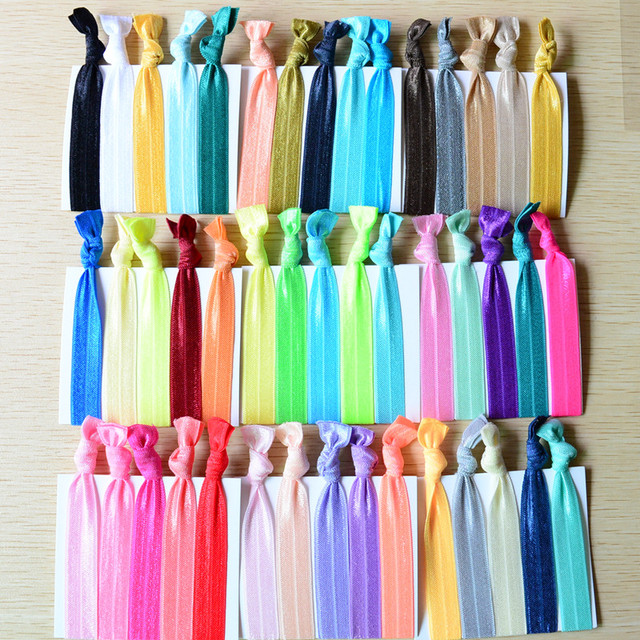 100 Pcs Lot Foe No Crease Knotted Women Hair Ties Elastic Hair Bands Women  Girls  Hair Accessories PD050 7da2eb005c6