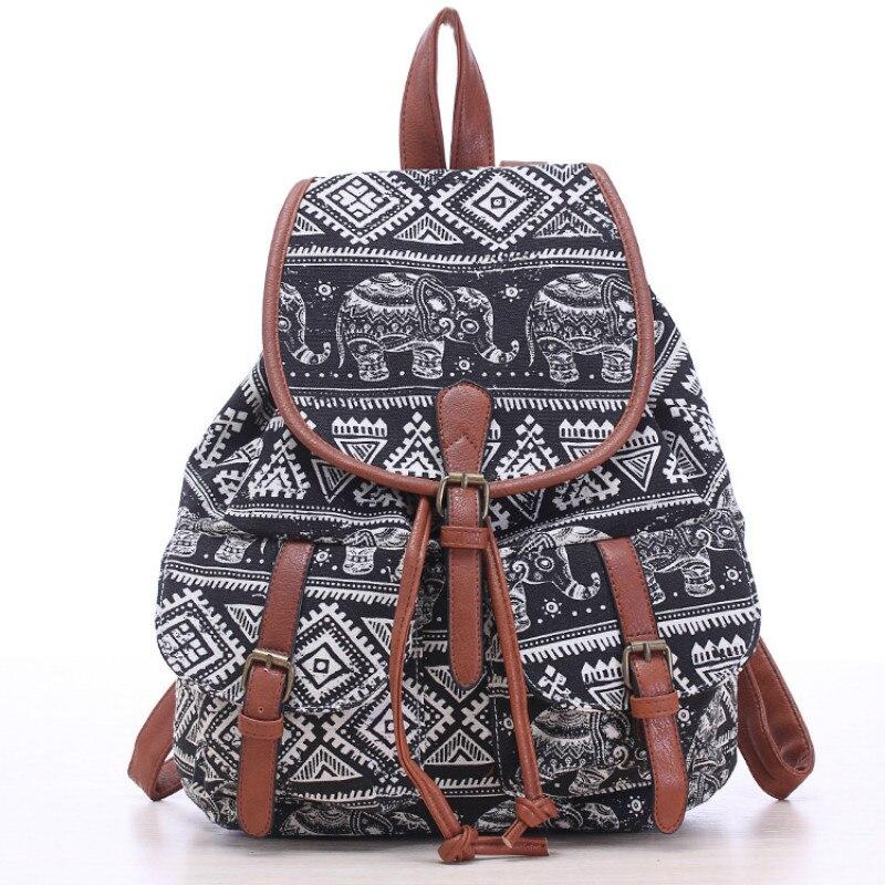 Brand Canvas National Tribal Ethnic Embroidered Floral Backpacks Women's Travel Rucksack Mochila School Shoulder Bag Bolsa
