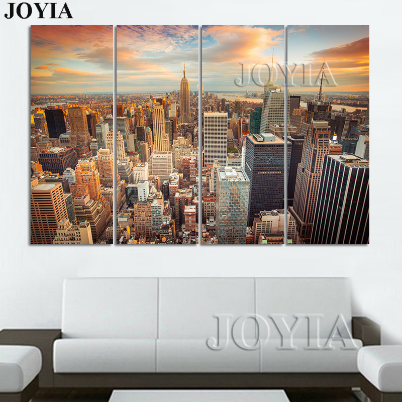 Large New York Canvas Set NYC Wall Art Modern Home