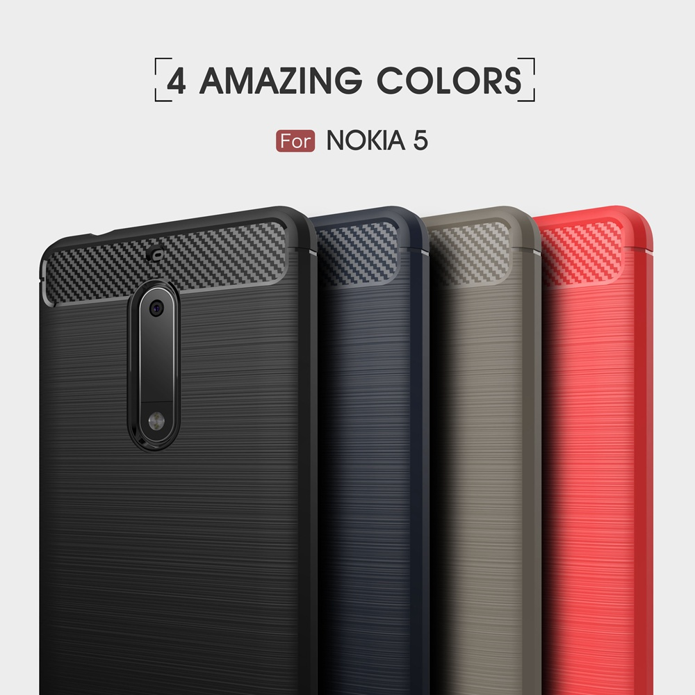 Carbon Fiber <font><b>Case</b></font> For <font><b>Nokia</b></font> <font><b>5</b></font> 2017 <font><b>Case</b></font> Fashion Soft Silicone Gel Protection Back Cover For Nokia5 2017 Shockproof Phone <font><b>Cases</b></font> image