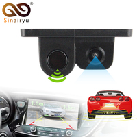 2 In 1 LCD Display Indicator Sound Alarm Car Reverse Parking Sensor Camera With CCD LED