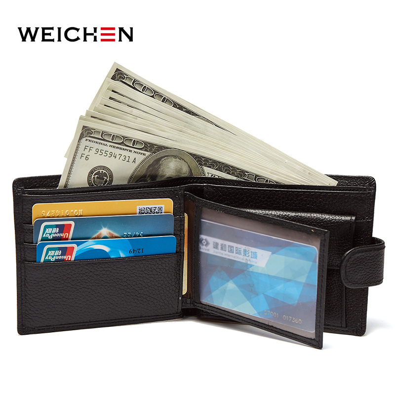 Weichen top quality cow genuine leather men wallets luxury,dollar price short style male purse,carteira masculina original brand baellerry small mens wallets vintage dull polish short dollar price male cards purse mini leather men wallet carteira masculina