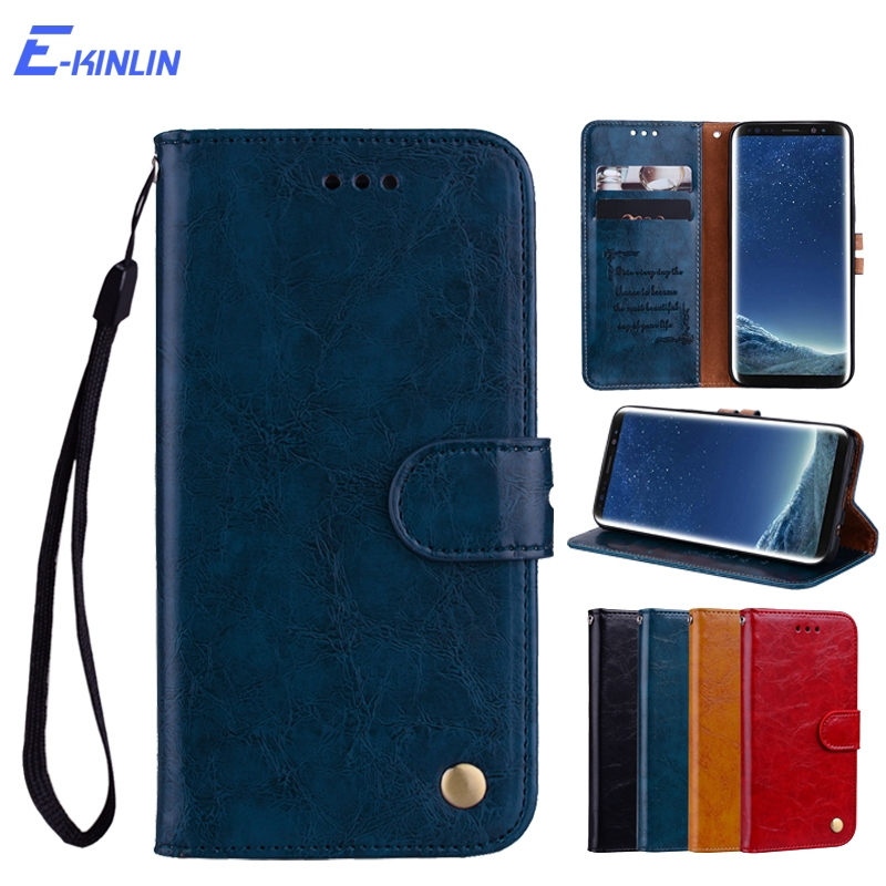 Wallet Flip Cover Leather <font><b>Phone</b></font> <font><b>Case</b></font> For <font><b>Samsung</b></font> Galaxy A9 A8 A7 A6 2018 A3 A5 2017 S10e S10 S9 S8 Plus <font><b>S7</b></font> Edge Note 10 5G 9 8 image