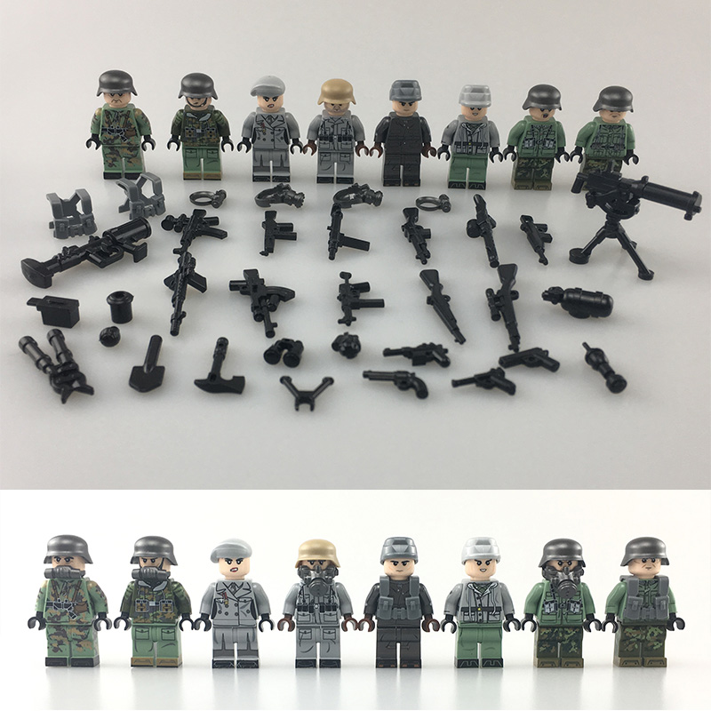 NEW Military Army Soldiers Compatible LegoINGlys Weltkrieg 2 Special Attack Antigas Mask Weapons Building Blocks Toys for Boys