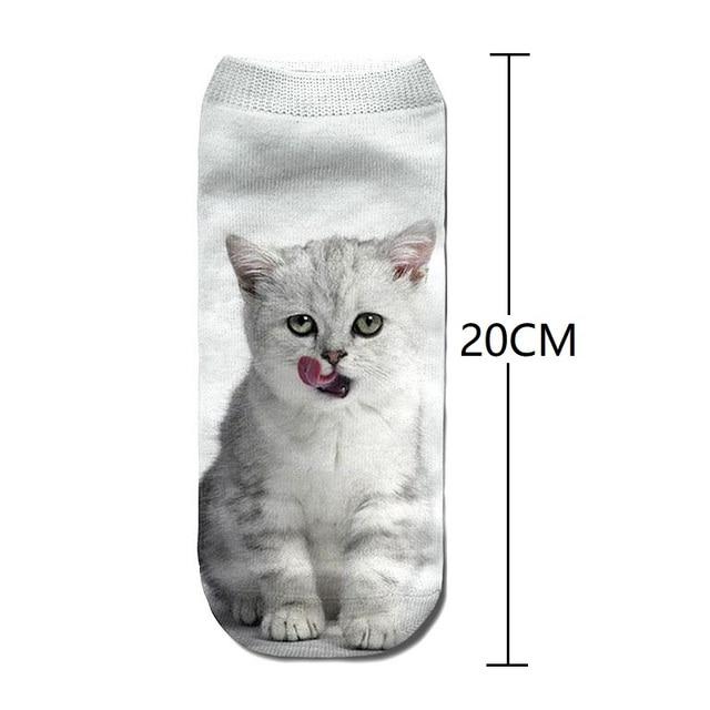 Funny animal Cute 3D Print Women Socks 3