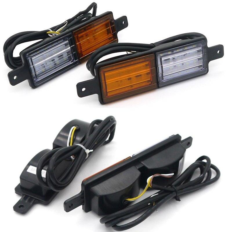 Pair 30 LEDs Front Position Indicator 10-30V DC Park Light Truck Trailer Side Marker Lamp Amber White