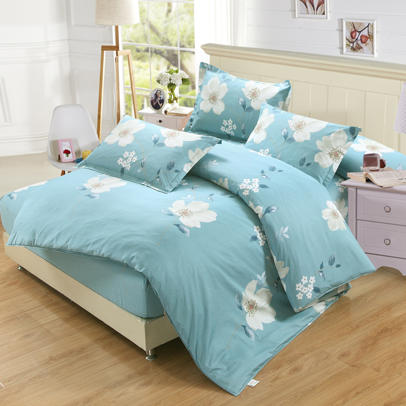 white and blue flower bedding sets bed set linen cotton twin full queen king size duvet cover. Black Bedroom Furniture Sets. Home Design Ideas