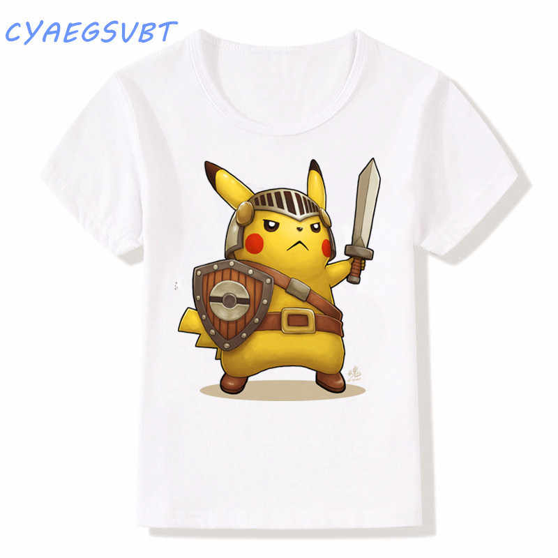 06df6fc5d ... fashion Lovely Pokemon T Shirt Anime Pika Kids T-Shirts Pikachu Big Boys /Girls ...