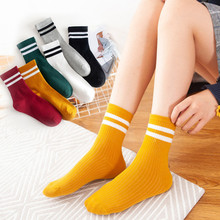 Harajuku Funny Socks Female Multicolor Stripes Cute Design School Student Korean Style Fashion Lady