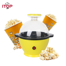 ITOP Mini Household Electric Popcorn Maker Hot Air Automatic DIY Popcorn Machine Christmas Birthday Gift For Kids Children