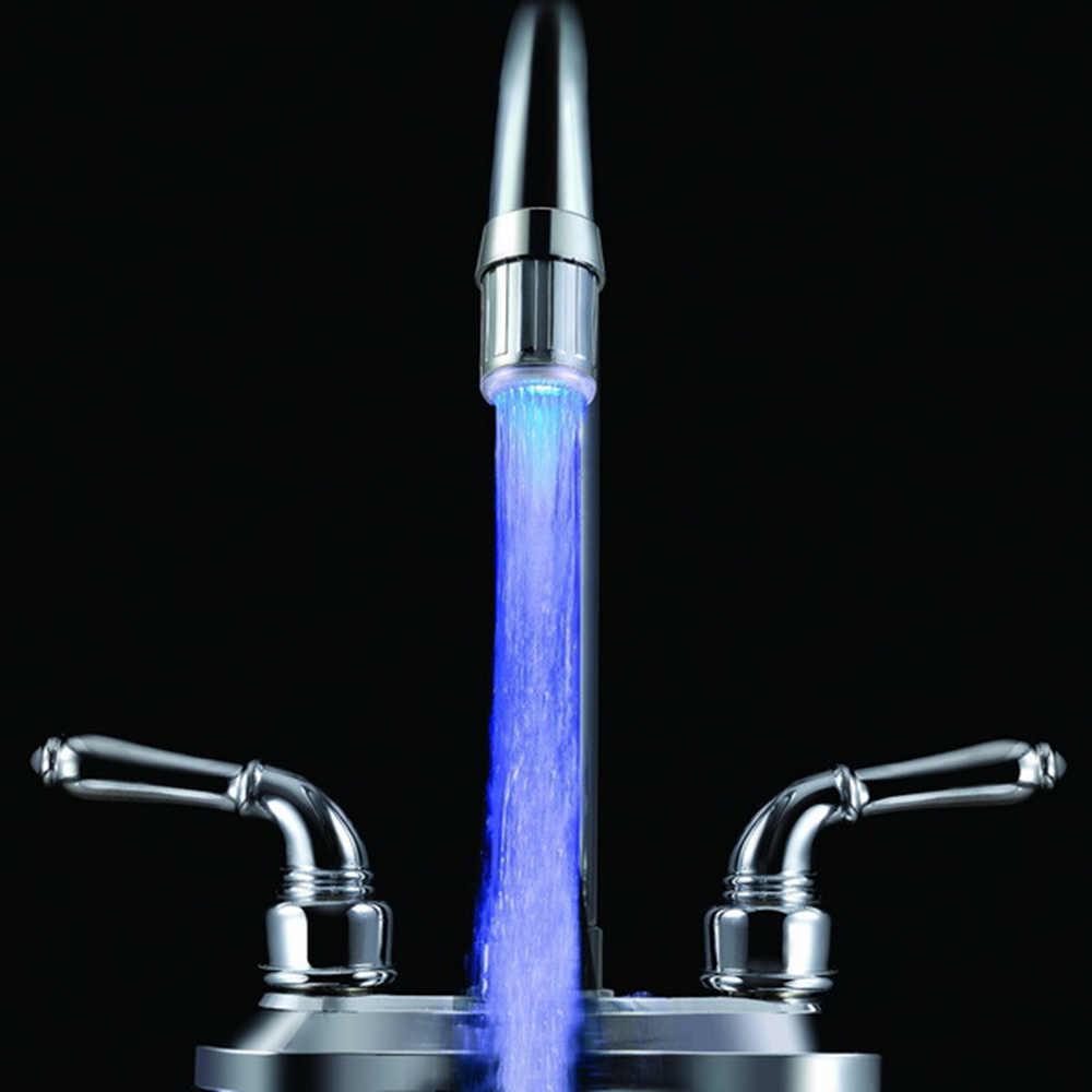 אור LED חיישן טמפרטורה ברז מקלחת ברז שינוי שמאל בורג גופי מטבח מגופים זוהר מקלחת אין סוללה