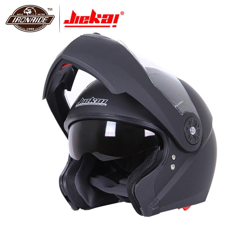 JIEKAI Casco Moto Uomini Motocross Casco Integrale Viso Caschi Anti-fog Moto Chopper Da Corsa Equitazione Casco Filp Up Modulare