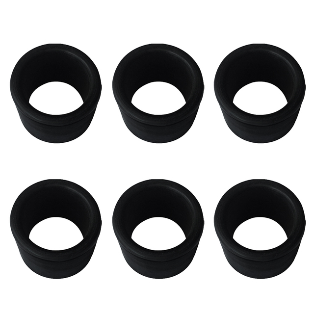 high quality 6 pieces black rubber fishing rod holder pole rest rack