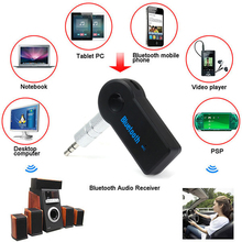 Wireless Bluetooth 3.5mm AUX Audio Stereo Music Home Car Receiver Adapter Mic GE Car Speakerphone Bluetooth Kit Music Receiver