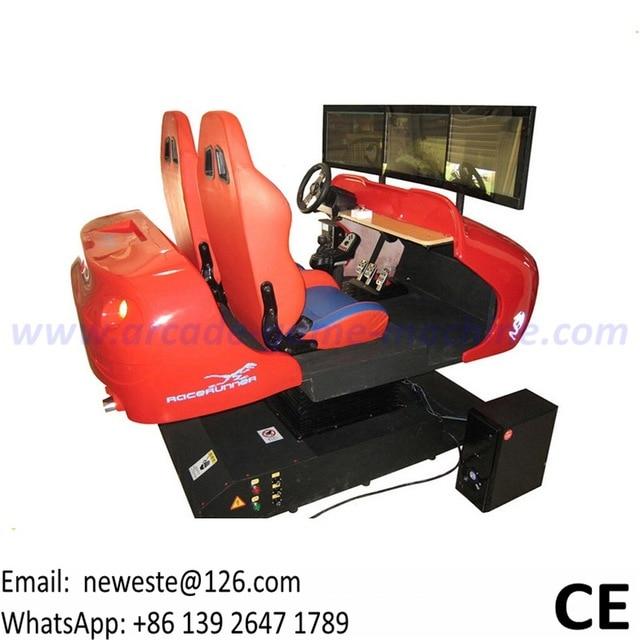 NYST Amusement Park Equipment 3 Screens 2 People Simulator Driving Car Racing Game Machine