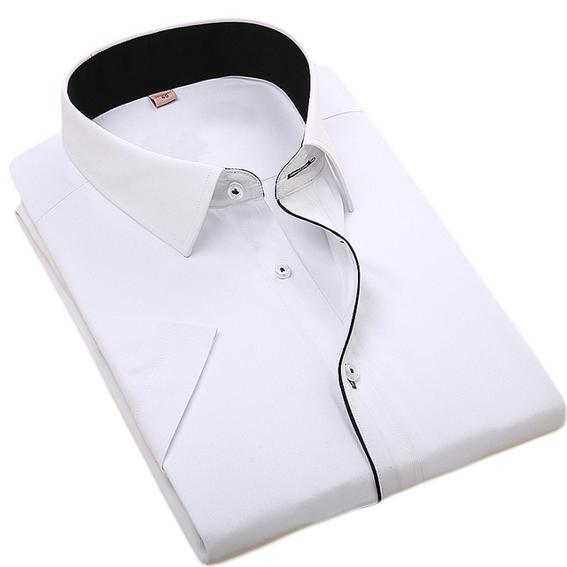 5abb5ec53ff9 2017 New Brand Mens Dress Shirts Short Sleeve Casual Shirt Men Regular Fit  Brand Design Formal